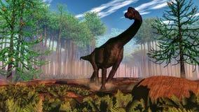 Brachiosaurus dinosaur - 3D render Royalty Free Stock Images