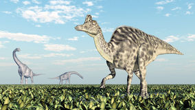 Brachiosaurus en Velafrons Stock Foto's
