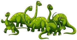 Brachiosaurus family on white background. Illustration Royalty Free Stock Image