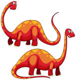 Brachiosaurus left and right view Royalty Free Stock Images