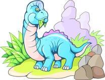 Brachiosaurus prehistórico lindo, ejemplo divertido del dinosaurio ilustración del vector