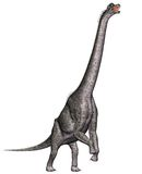 Brachiosaurus standing on hind legs Stock Photo