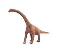 Brachiosaurus zabawka na białym tle Obraz Stock