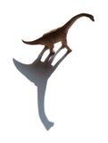 Brachiosaurus zabawka z cieniem Zdjęcia Stock