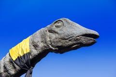 Brachiosaurusdinosauriehuvud och hals Arkivbilder