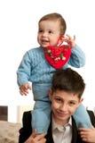 bracia świętują dzień s st valentine Obraz Royalty Free