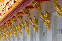 Bracing roof structure. At thai temple Stock Images