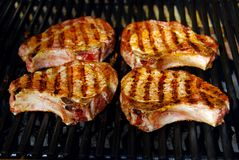 Braciole di maiale del barbecue Immagine Stock Libera da Diritti