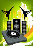 Brack dance music Stock Image