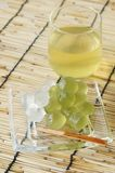 Bracken starch dumpling. On the glass plate Stock Photography