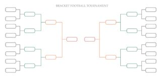 Bracket football tournament. Vector or soccer, hockey and basketball Royalty Free Stock Photo