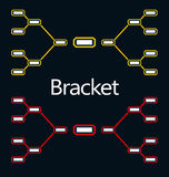 Bracket Tournament. Playoff assembled in two colors Royalty Free Stock Images
