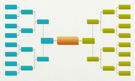 Bracket tournament 16, Matches and Competitions Sport Stock Image