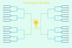 Bracketology del torneo Imagenes de archivo