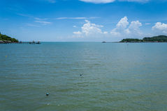 Brackish water against blue sky Royalty Free Stock Images