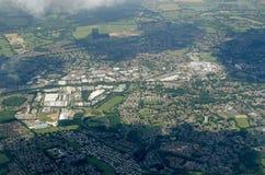 Bracknell, Berkshire - visión aérea Foto de archivo libre de regalías