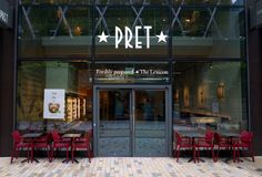 The Pret A Manger Sandwich and Coffee Shop in Bracknell, England stock image