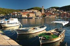 brac克罗地亚海岛pucisca 免版税库存照片