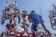 Bractwo Cerro Del Aguila, wielkanoc w Seville Zdjęcia Royalty Free
