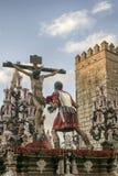 Bractwo Cerro Del Aguila, wielkanoc w Seville Obrazy Stock