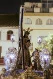 Bractwo cisza, wielkanoc w Seville zdjęcia royalty free