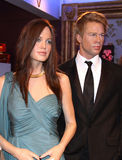 Brad and Angelina at Madame Tussaud's Stock Photo