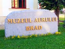 Brad Gold Museum - Welcome. The sign at the entrance to the Gold Museum Stock Photography