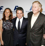 Brad Grey and Sumner Redstone Stock Images