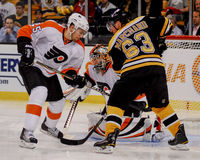 Brad Marchand #63 and Matt Carle #25. Stock Photos