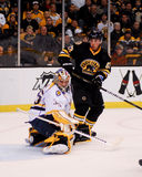 Brad Marchand v. Pecca Rinne Royalty Free Stock Photography