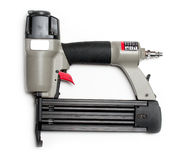 Brad nailer. Compressed brad nailer on isolated white background Royalty Free Stock Photo