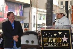 Brad Paisley, John Lasseter Stockbild