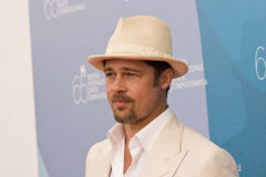 Brad Pitt. VENICE, ITALY - AUGUST 27: Actor Brad Pitt during the 'Burn After Reading' Photocall, part of the 65th Venice Film Festival at Palazzo del Casino on Stock Images