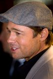 Brad Pitt. At the european premiere of 'Beowulf' at the Vue cinema on November 11, 2007, London, England Royalty Free Stock Images