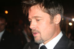Brad Pitt. Close up of famous actor Brad Pitt  at the Toronto International Film Festival Royalty Free Stock Photo