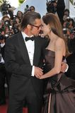 ANGELINA JOLIE, Angelina Jolie, Brad Pitt Fotografia Stock Libera da Diritti