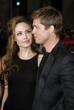 Brad Pitt and Angelina Jolie Stock Photos