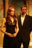 Brad Pitt and Angelina Jolie Wax Figures Stock Image