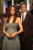 Brad Pitt and Angelina Jolie. Wax statues at Madame Tussauds in London royalty free stock photography