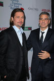 Brad Pitt, George Clooney Stock Image
