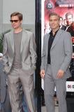 Brad Pitt, George Clooney Stock Photos