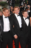 Brad Pitt, George Clooney foto de archivo libre de regalías