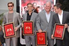 Brad Pitt, George Clooney, Jerry Weintraub, Matt Damon Royalty Free Stock Image