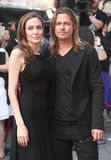 Brad Pitt i Angelina Jolie Obraz Stock