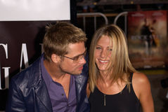 Brad Pitt,Jennifer Aniston Royalty Free Stock Images