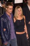 Brad Pitt,Jennifer Aniston Stock Images
