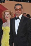 Brad Pitt,Jessica Chastain Stock Photo