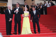 Brad Pitt, Jessica Chastain and Sean Penn Stock Photos