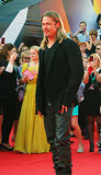 Brad Pitt at Moscow Film Festival Stock Photography