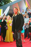 Brad Pitt no festival de cinema de Moscou Fotos de Stock Royalty Free